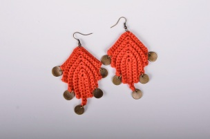 Leaf and Charm Earrings