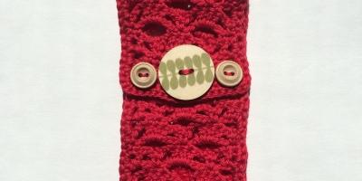Crochet Boho Headband pattern. Cotton hairband, with buttons, handmade, simple crochet.