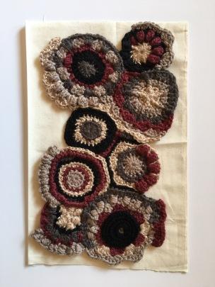 Scrumbles to crochet fabric, crochet circles, crochet texture, creating abstract crochet