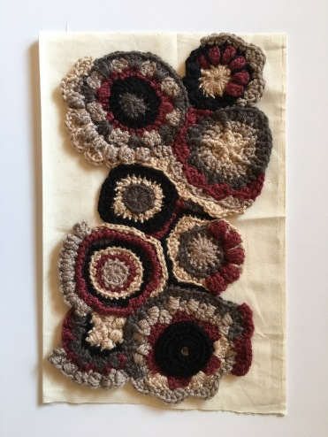 Scrumbles to crochet fabric, crochet circles, crochet texture, creating abstract crochet